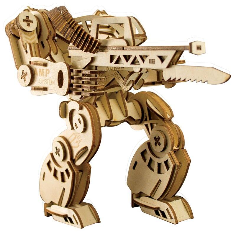 3D bricolage jouets en bois Puzzle Robots mécaniques modèle ensemble créatif assemblé éducatif Puzzle jouets cadeaux pour enfants enfants WP04
