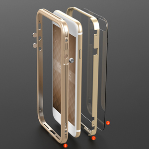 Image 3 - For Apple iPhone 7 Case aluminio Metal Clear backplane Luxury Armor phone Case Aluminum Frame Cover for iPhone 7 Plus Shockproof