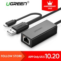 Ugreen USB Ethernet 10 100 Mbps Rj45 Network Card Lan Adapter For Mac OS Android Tablet