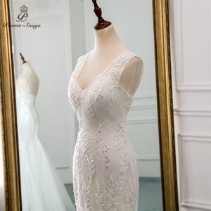 Image 4 - New beautiful sequined lace wedding dress 2020robe mariage  Vestido de noiva Mermaid wedding dresses for wedding  robe de mariee
