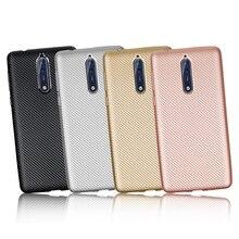 hot deal buy carbon fiber soft case for nokia 1 2 3 5 6 7 8 9 case for nokia 6 2018 7 plus x6 2.1 3.1 5.1 back cover for nokia x6 coque