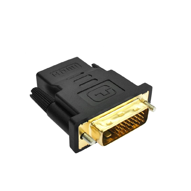 Gold Plated DVI 24+1 +5 To HDMI Adapter Cables  Plug Male To Female 1080P HDMI Cable Converter  HDTV  Monitor