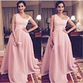 Baby Pink Sonam Kapoor Long Gowns At Bollywood Actress Attended He-Femina Beauty Awards 2016 Special Neck Celebrity Dresses