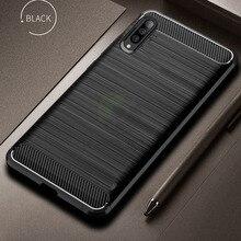 Keajor Case For Samsung Galaxy A40 A60 A70 Carbon Fiber Shockproof Cover Silicone Armor A 40 60 70 Funda