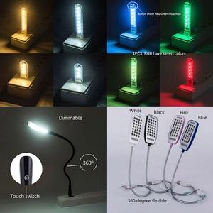 Светодиодный мини-светильник для книг, 2019, энергосберегающий Ночной светильник, настольная лампа для чтения, светильник для клавиатуры