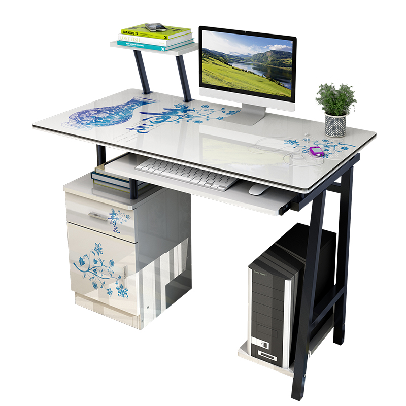 Modern stylish computer laptop desk with drawer coffee for Stylish office table