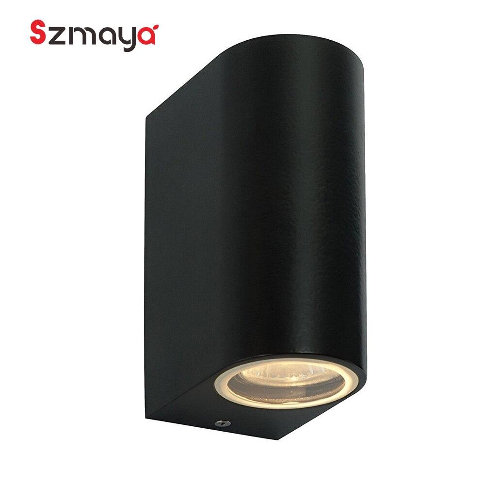Led gu10 lâmpada de parede ao ar livre, modern diodo cree conduziu a iluminação de emergência luzes de parede para cozinha, casa moderna buitenverlichting
