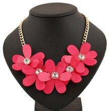 Мода Смола Большой Цветок Подвески Себе Ожерелье