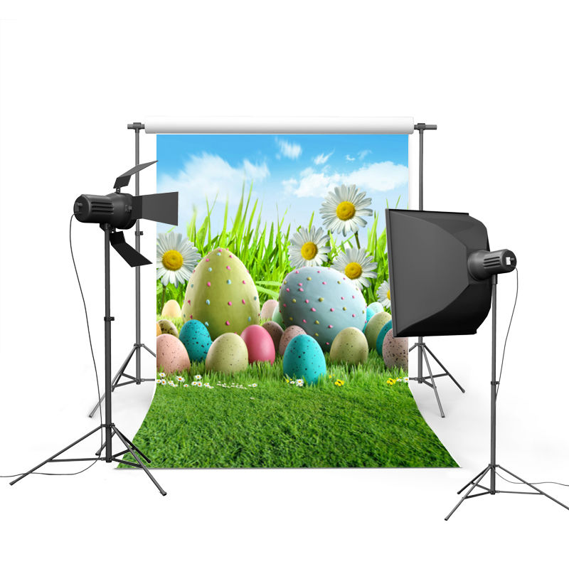 2017 new spring easter photography backdrops eggs chiken new born baby children photographic background Easter Day P0350