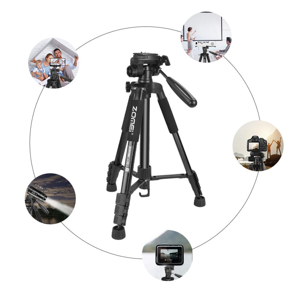 Pour ZOMEI léger Portable Q222 professionnel voyage caméra trépied monopode aluminium boule tête Compact numérique reflex appareil photo