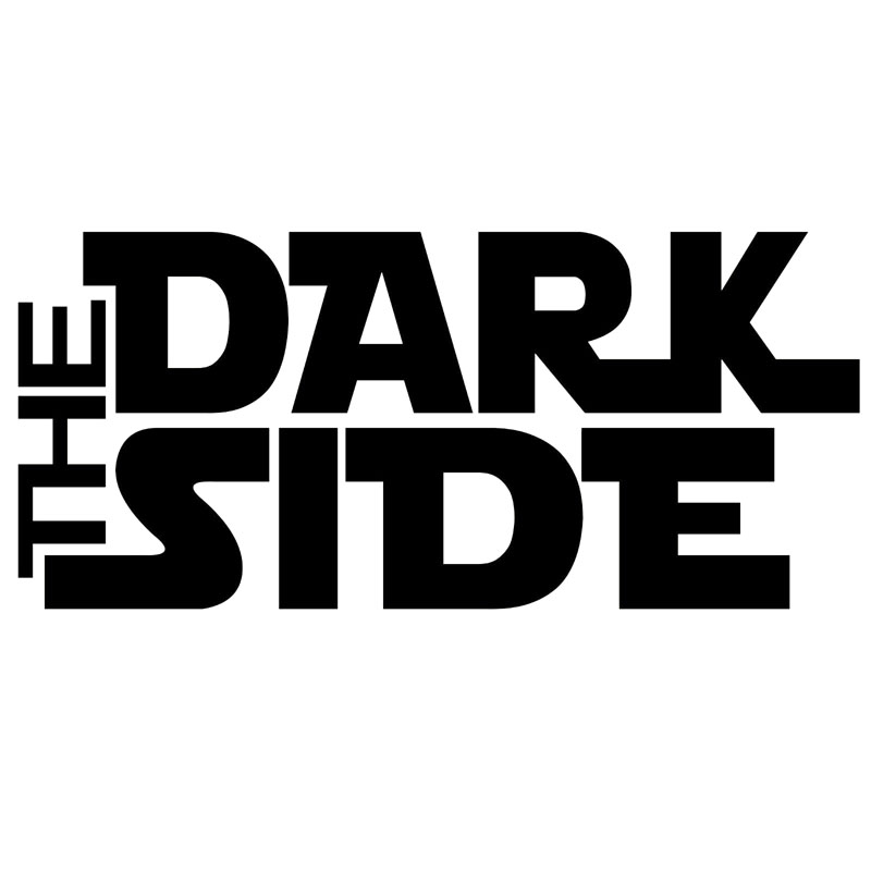 17.8*8CM THE DARK SIDE Stylish Text Vinyl Decals Car Styling Body Stickers Accessories Black/Silver C9-0390