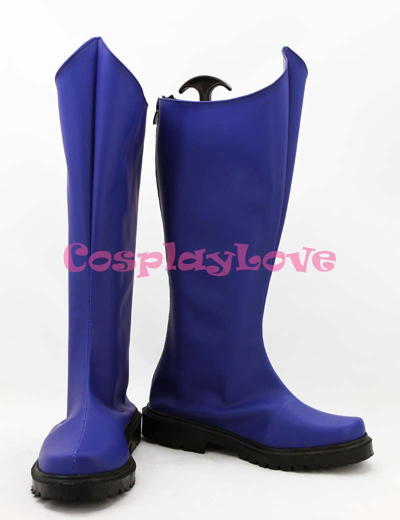 Newest Custom Made American Movie Blue Spiderman Cosplay Shoes Long Boots For Halloween Christmas Festival CosplayLove