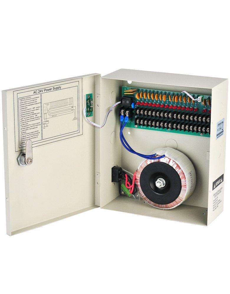 Адаптер 24В переменного тока Мощность питание 10А, 18 каналов Боксировал распределение 220В/110В переменного тока