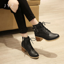 Fashion New Womens Ankle Boots Casual Motorcycle Shoes Pumps Size 40 41 42 43 aa0934