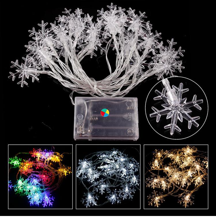 snowflake string lights W1420-00-03