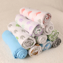 New 135 cm * 135 cm Summer Muslin Cotton Baby Swaddling Blanket Breathable 0-3 Years Old Newborn Infant Bath Towel Hold Wraps