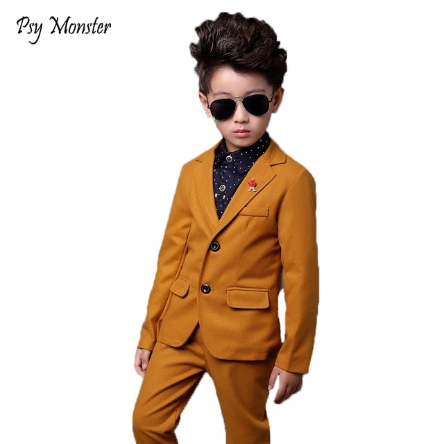 Children Baby Boys Birthday Dress Jackets Pants Boys Formal Suit For