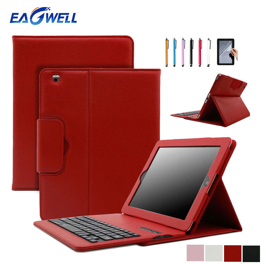 2-in-1 Bluetooth Keyboard Case For iPad mini 1 2 3 PU Leather Stand Cover Tablet Wireless Keypad Protective Case Skin+Film+Pen desxz 7 9 in case for ipad1 ipad mini 1 2 3 4 wireless bluetooth keyboard folding cases protective holster ultra thin tablet ios