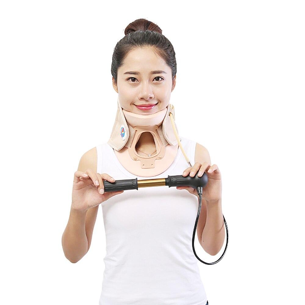 Traction cervicale Masseur Gonflable Neck Brace Soulager La Fatigue Du Cou Douleur Cou Soins De Santé de Massage Vitesse Fixe Apaisant Cou