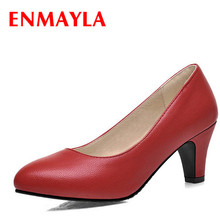 ENMAYER  Size 34-39 2015 New Fashion Women Pumps Less Platform Shoes Ladies Dress Casual 3 colors