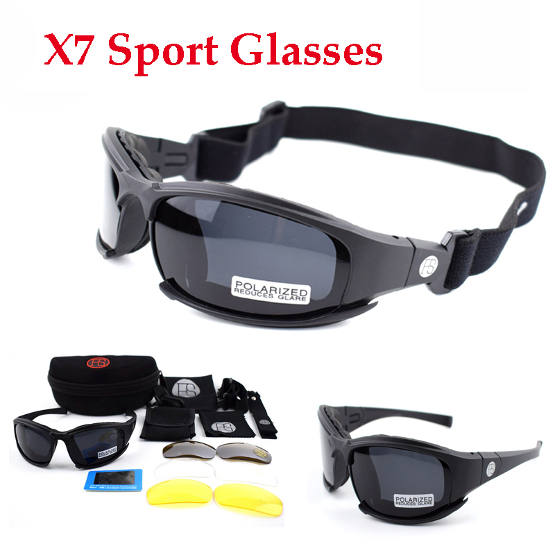 Military Glasses Tactical Shooting Glasses X7 Polarized Sport Sunglasses Hunting Airsoftsports Goggles Hiking Eyewear