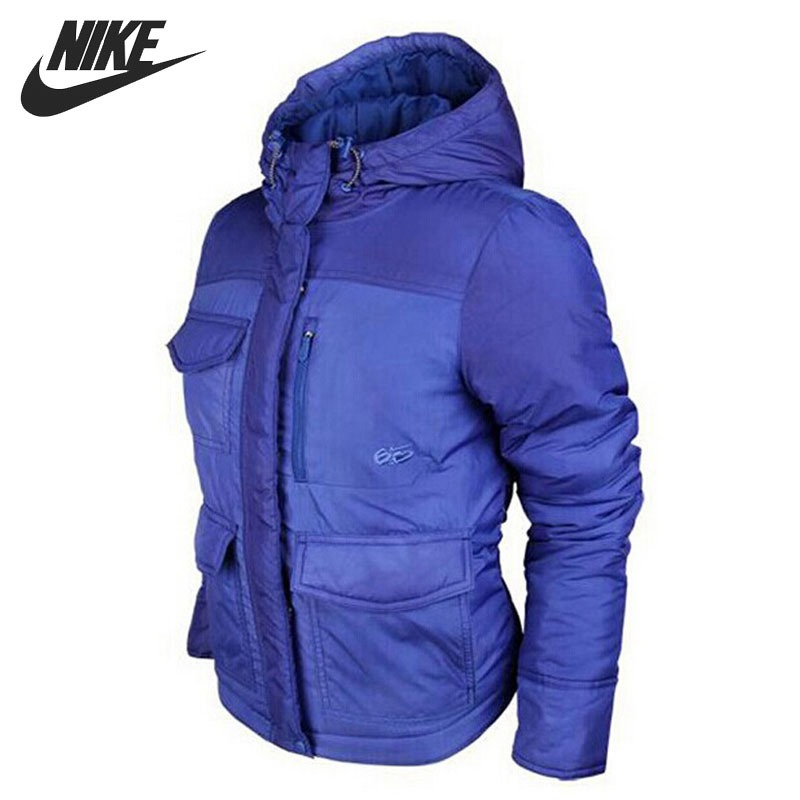 Original NIKE Women's Cotton-Padded jacket Hooded Sportswear original nike men s black knitted jacket hooded sportswear