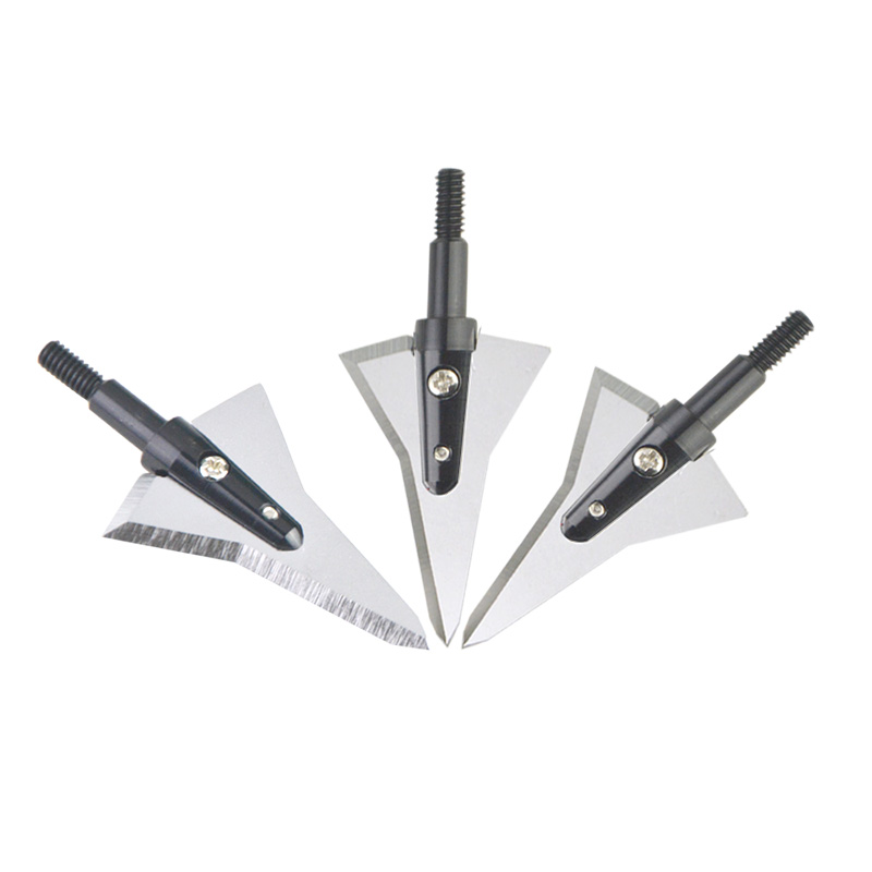 Image 2 - 1pc Hunting Archery Broadhead Tips Point Sharp Detachable Arrowhead 2 Blades Compound Bow Accessories-in Bow & Arrow from Sports & Entertainment