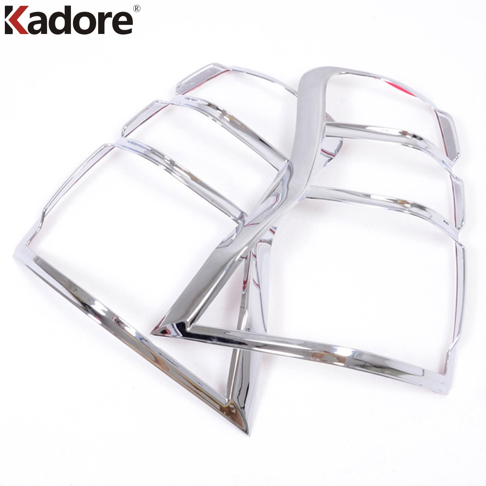 For Toyota Prodo FJ150 fj <font><b>150</b></font> <font><b>2010</b></font> 2011 2012 2013 ABS Chrome Rear Light Cover Trim Taillight Garish Bezels Exterior Accessories image