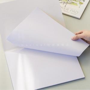Image 3 - A3/A4 סמן עט מחברת אופנה סמן כרית 32 גיליונות עבה נייר (160g) צבע עפרונות מחברות