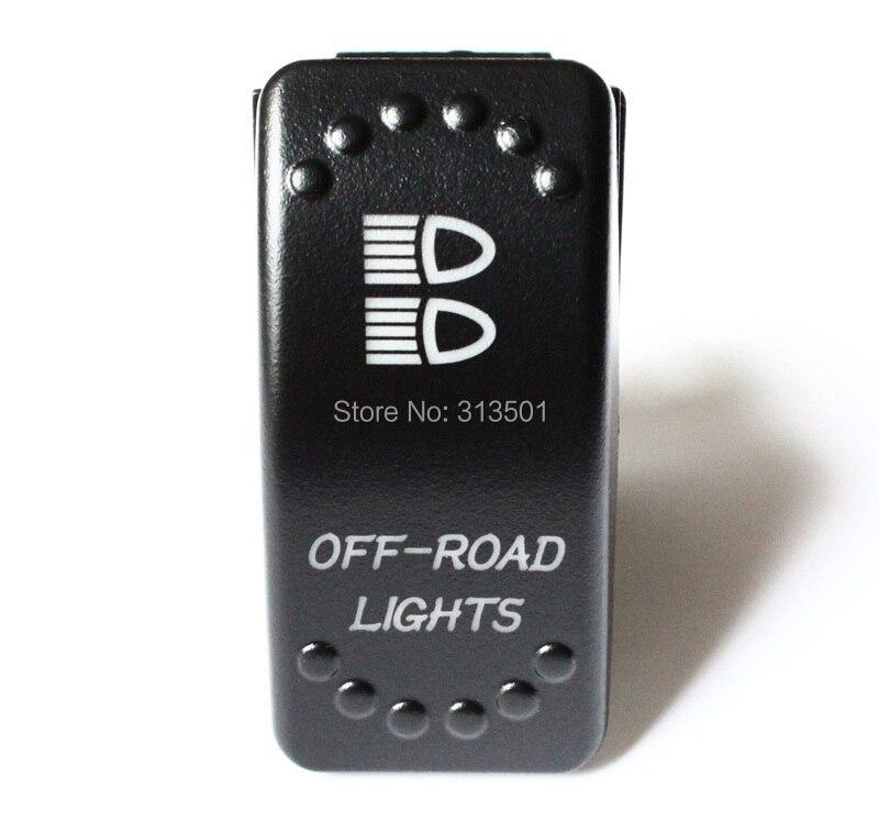 OFF-ROAD LIGHTS 3P SPST ON/OFF Green & Blue Led Light Rocker Switch 24V 12V For Car Marine Boat