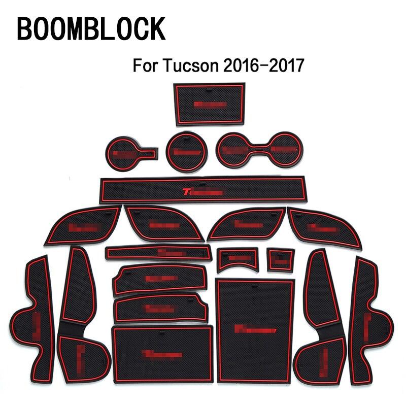 Car Interior Cup Mat Door Gate Slot Pad Stickers For Hyundai Solaris 2 Ix35 Creta IX25 Accessories for Hyundai Tucson 2017 2016