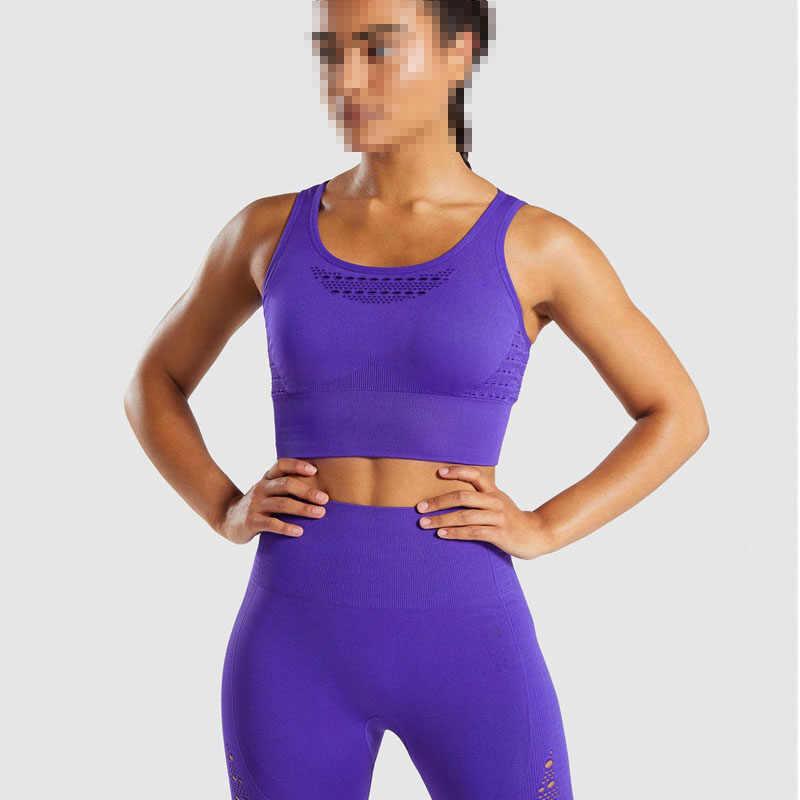 9c68336b9ca24 Womens Nepoa Gym Energy Seamless Crop Top Sport Cropped Top Bra Push up  Running Yoga Bra