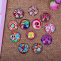 100pcs/lot Mix Domed Round Beautiful Flower Photo Glass Cabochon 10mm 12mm DIY Handmade Earring Jewelry Necklace Accessories