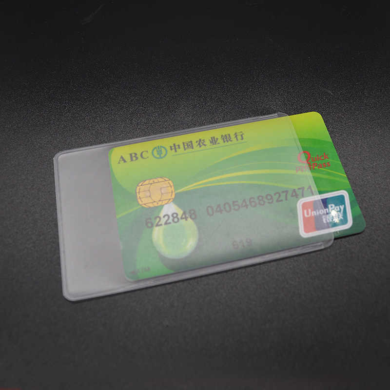 3PCS Waterproof PVC Credit Card Holder Plastic wallet for Credit Cards Bank Card Protector Cardholder ID Card Cover