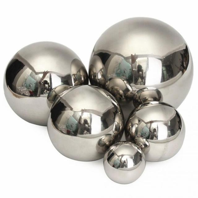 5 Size Durable Stainless Steel Mirror Shine Sphere Hollow Ball Home Garden  Ornament Shopping Malls Home