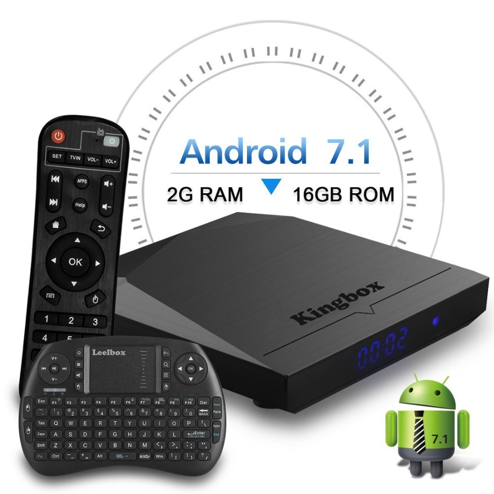 Leelbox K3 K2 Android 7.1 TV BOX 2GB 16GB Amlogic S192 Quad Core 2.4GHz WiFi Media Player IPTV 1GB 8GB Sport Movie Music Service