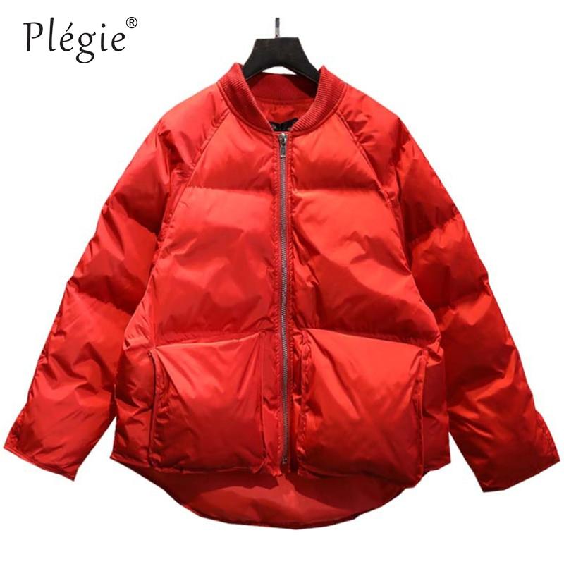 Plegie 2018 New Ladies Fashion Coat Winter Jacket Women Outerwear Short Wadded Jacket Female Padded   Parka   Women's Overcoat