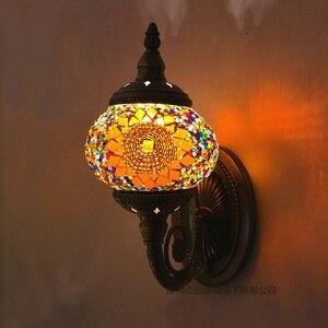 Image 1 - חדש הים התיכון סגנון אמנות דקו תורכי פסיפס מנורת קיר בעבודת יד פסיפס זכוכית רומנטי קיר אור