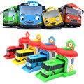 Novo 4 Pçs/set Desenhos Animados Coreano Tayo O Pequeno Ônibus Modelo de Garagem crianças Mini Veículos Ônibus Tayo Carro ABS Brinquedo Do Bebê Natal presente