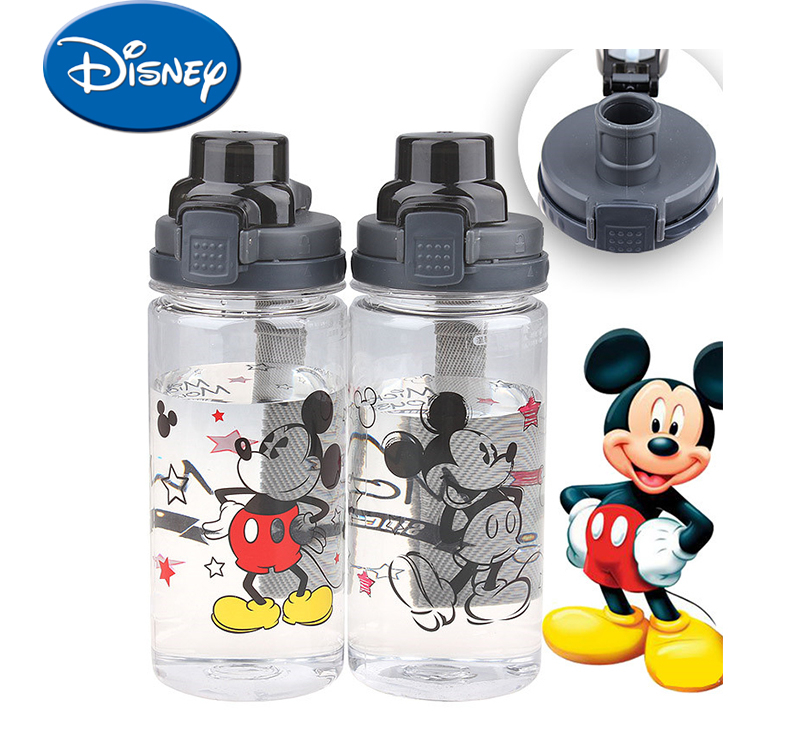 Disney 550ML Baby Infant Leak Proof Cup Mickey Mouse Cartoon Kids Training Cups