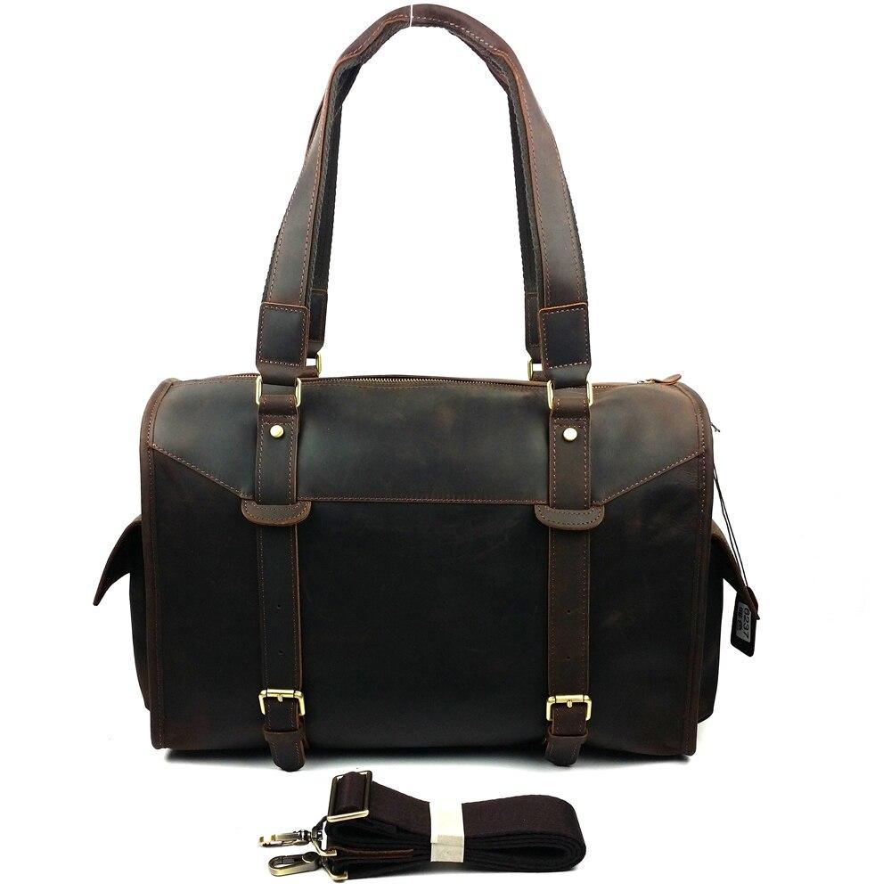 2017 Designer Handbags High Quality Genuine Leather Travel Bag Men Travel Bags Vintage Luggage Large Duffle Bag Weekend Bag 6237