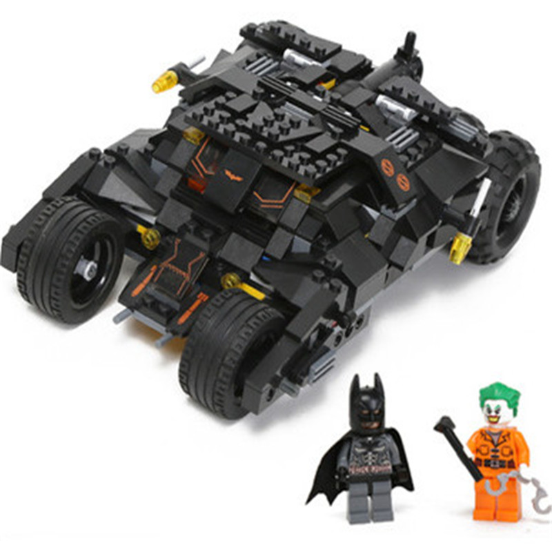 325pcs Super Heroes Batman Car Model Building Kits Blocks Classic Compatible playmobil Toys Set Child Education Birthday Gift