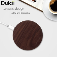 Wireless Desktop Charger For IPhone X 7 8 Plus Walnut Wood 10W Fast Qi Wireless Charging
