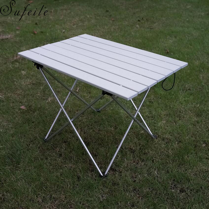 Outdoor Ultralight Portable Alloy Foldable Aluminum Folding Tables BBQ Fishing Camping Hunting Table Picnic Folding Table 76 50cm portable folding outdoor tables picnic table garden table
