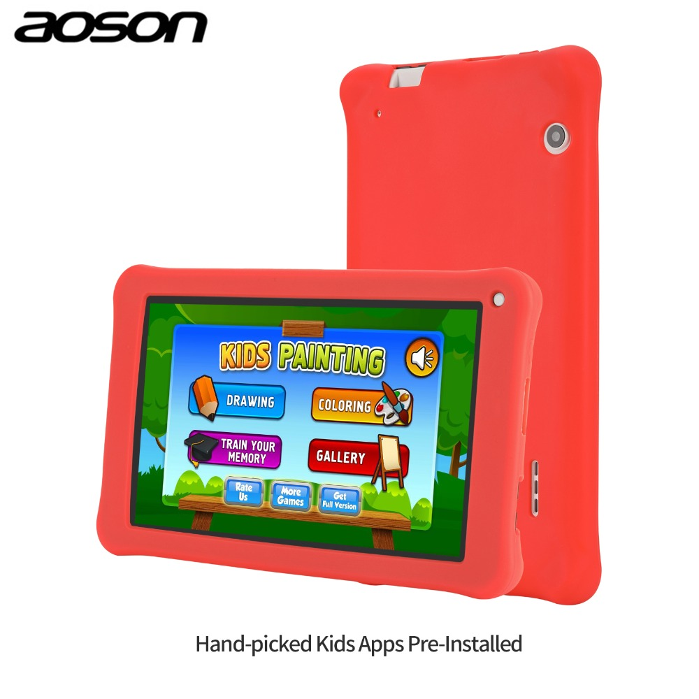 Kids Learning Machine 7inch Children Tablet PC 1G+16GB  Quad Core Android 7.1 Dual Camera Language Training Computer Gift Toy