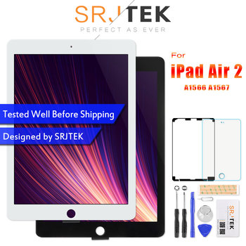 For iPad Air 2 LCD A1567 Display Touch Screen A1566 Replacement For iPad 6  Air 2 LCD Digitizer Matrix Screen Assembly Air2 Parts