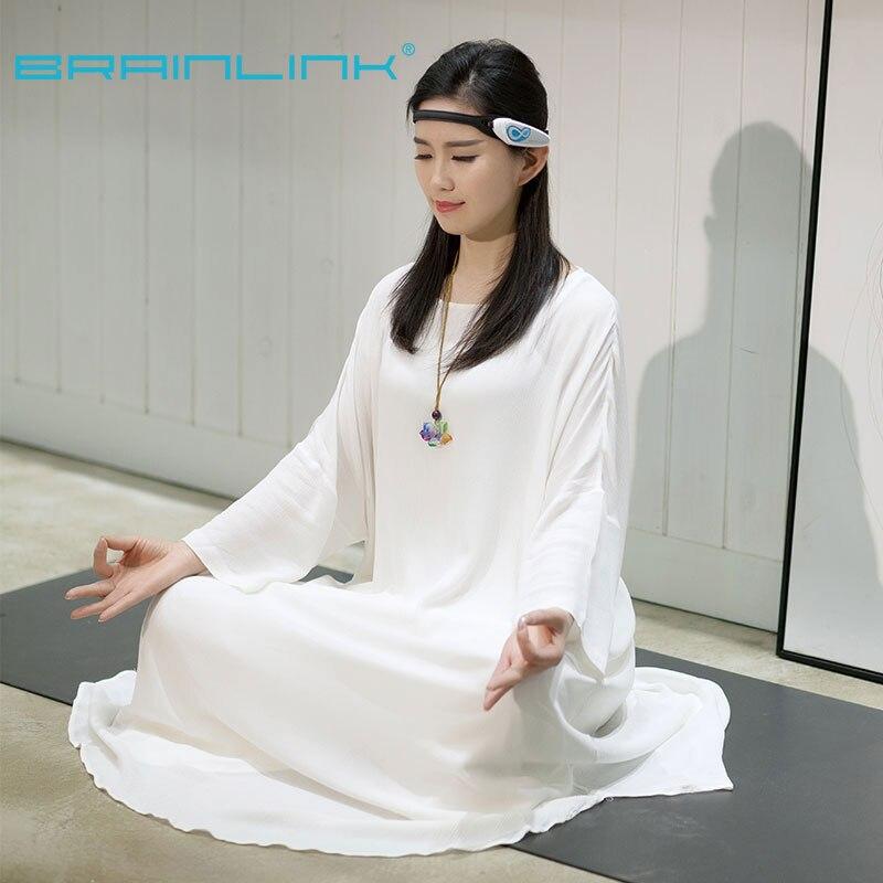 Купить с кэшбэком Hot Sale Brainlink Headset International Version Dry Electrode EEG headband Attention and Meditation Controller Neuro Feedback