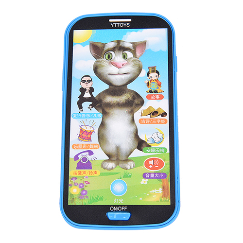 3D Talking Cat Russian Language The Speaking Toy Repeats Kids Early Childhood Educational Electronic Interactive Tablet Toys