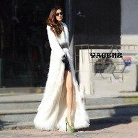 2019 Winter New Style Fashion Luxury Wome Women Artificial Fur Coats Plush Fox Fur Windbreaker White Faux Fur Coats Outerwear