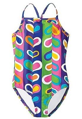 Աղջիկների լողազգեստներ սրտերով / - Սպորտային հագուստ և աքսեսուարներ - Լուսանկար 1